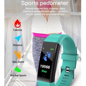 Image 3 - Akıllı bilek bandı spor nabız monitörü kan basıncı pedometre sağlık koşu spor akıllı saat erkekler kadınlar için IOS Android