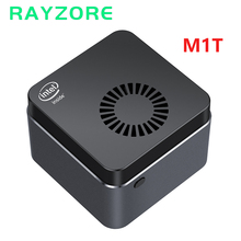 M1t mini pc windows 10 quad-core intel celeron n4100 8gb lpddr4 128gb ssd m.2 mini z 5gwifi bluetooth 4.2 hdmi2.0 4k menor pc