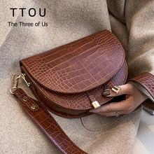 Известный Дизайн, искусственная кожа, женские сумки через плечо, для шоппинга, уличные женские сумки, крокодиловый полукруг, Роскошный кошелек, сумки на плечо