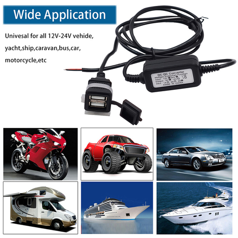 Accessories Power Socket Charger Universal Waterproof Car Motorcycle ABS Mobile Phone Boat Dual USB Adapter Vehicle Tablet GPS Karachi