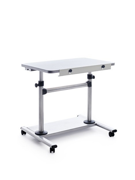 TABLE MOBILE ADJUSTABLE HEIGHT INCLINACION COLOR GREY ALUMINUM