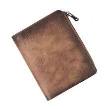 Стильный мужской кожаный короткий кошелек для удостоверения личности, кошелек с отделением для кредитных карт, повседневный карман для монет
