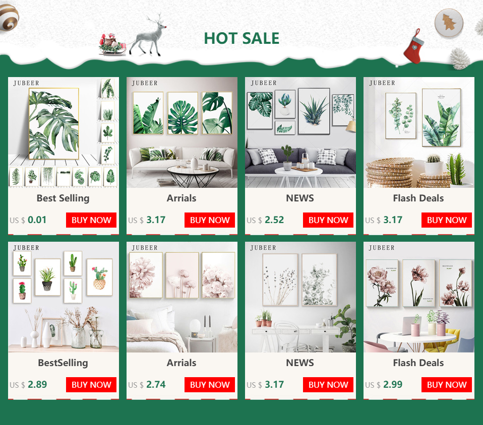 Hce33876e32544c3f9bc18b620453e1f1q Scandinavian Style Tropical Plants Poster Green Leaves Decorative Picture Modern Wall Art Paintings for Living Room Home Decor