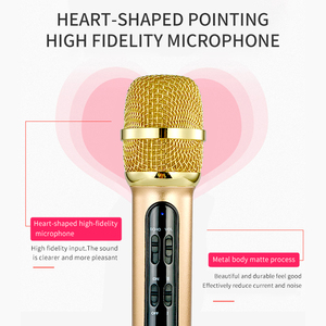 Image 4 - 휴대용 전문 가라오케 콘덴서 마이크 노래 녹음 에코 사운드 카드와 휴대 전화 컴퓨터에 대 한 라이브 Microfone