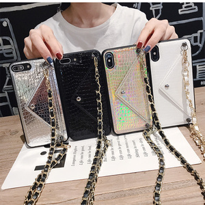 Image 3 - Hot Girls Crossbody Wallet With Long Strap Case Cover For iPhone 11 12 Pro XS MAX XR X 6S 8 7 6 Plus Card Slot Pouch Purse Cover