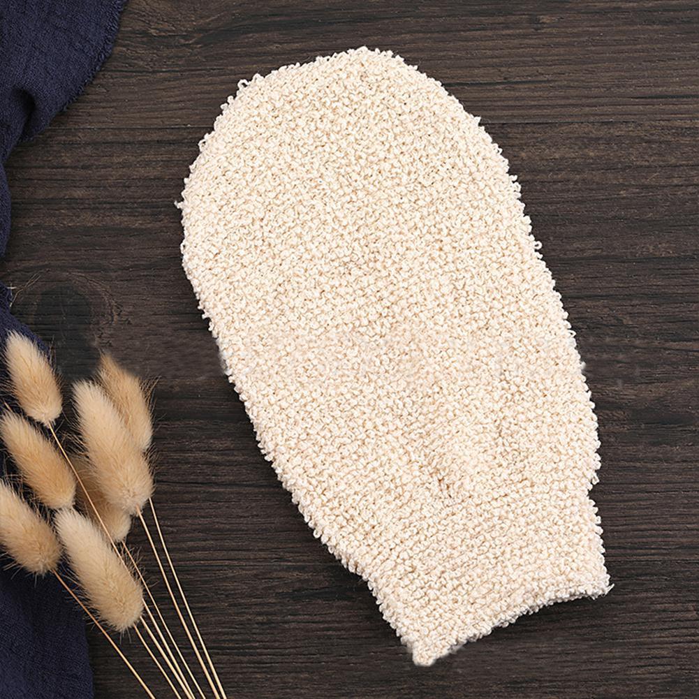 Rosalind Bamboo Fiber Bath Gloves Women Towels Bathroom Exfoliating Skin Wash Foam Towel Massage Back Shower Scrubber 1pcs
