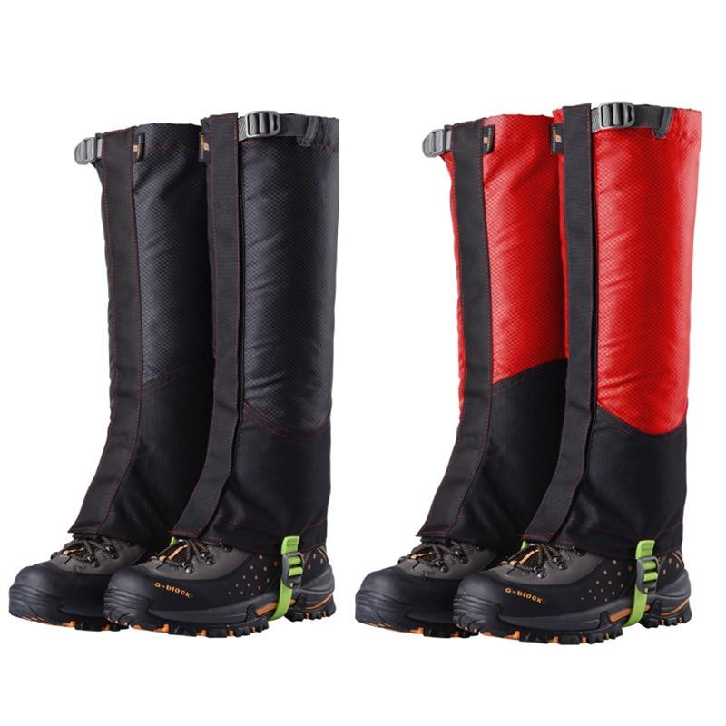 Ji Rock Wear-Resistant Oxford Cloth Gaiters Outdoor Mountain Climbing Hiking Anti-Dust Booties Leggings Waterproof Gaiters L