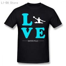 Мужские Винтажные Короткие топы футболки с надписью water love