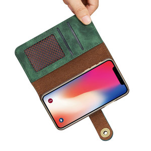 Image 5 - 2 in 1 Midnight Green Wallet For Coque iPhone 12 Mini 11 Pro Max Luxury Case iPhone12 2020 SE X S Xr Xs 6 6S 7 8 Plus Flip Cover