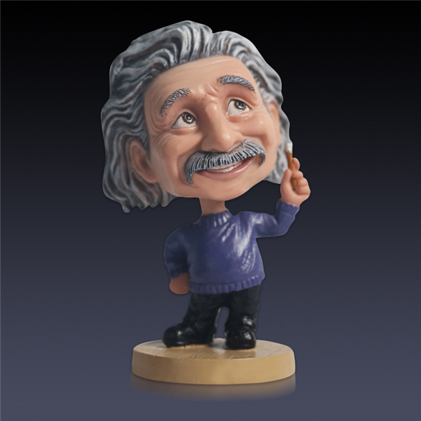 13cm Einstein Action Figure Shaking Head PVC Figure Collectible Model Doll Cartoon Figurine Toy Gift For Friend