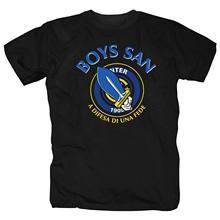 Camiseta t-hemd milan inter italia ultras fãs meninos san fussball curva fun t camisas casuais roupas de marca algodão