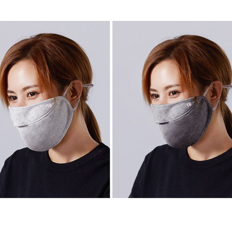 Unisex Mouth Mask Winter Double Layer Warm Plush Mouth Mask Cutout Breathable Mouth-Muffle 24BC