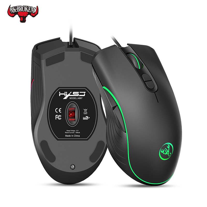 Professional-Grade Wired Gaming Mouse 6400DPI Adjustable Electronic Sports Gamer Mice LED Optical Sens For Laptop Computer PC