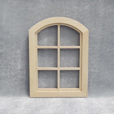 1:12 Dollhouse Arc Window Six Squares Wooden Miniature Part