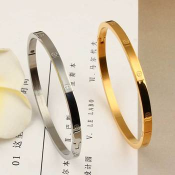 XUANHUA Stainless Steel Cuff Bracelets Bangles For Women Fashion Jewelry Charm Accessories Bohemian Stylish Classic