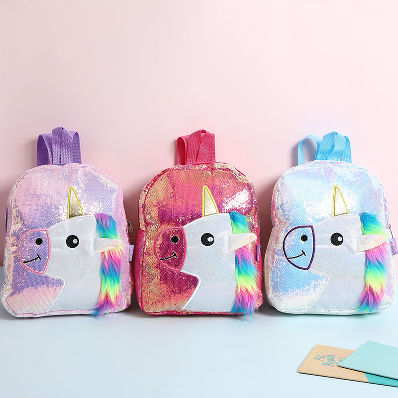 Ladies Girl Kids Sequin Ice Cream Mini Purse Coin Bag Bling Pouch Backpack Charm