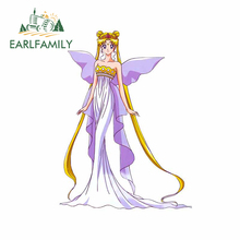 EARLFAMILY 13cm x 9.6cm for Sailor Moon Car Stickers Vinyl Car Wrap Decal Waterproof Occlusion Scratch Suitable for VAN RV