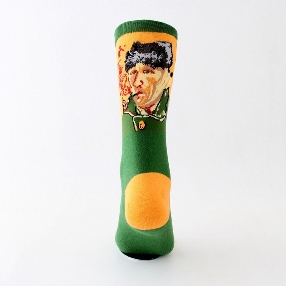 Harajuku Van Gogh Oil Painting Socks Women Socks Art Van Gogh Mural Cotton Socks New Fashion Crew Socks Men Women