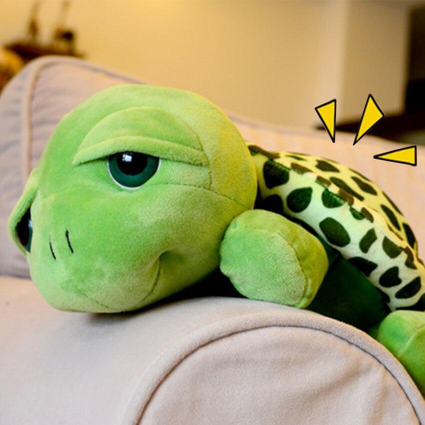 20cm Plush Toy Cute Big Eyes Turtle Soft Stuffed Animal Pad Soft Little Turtle Doll Gift For Kids