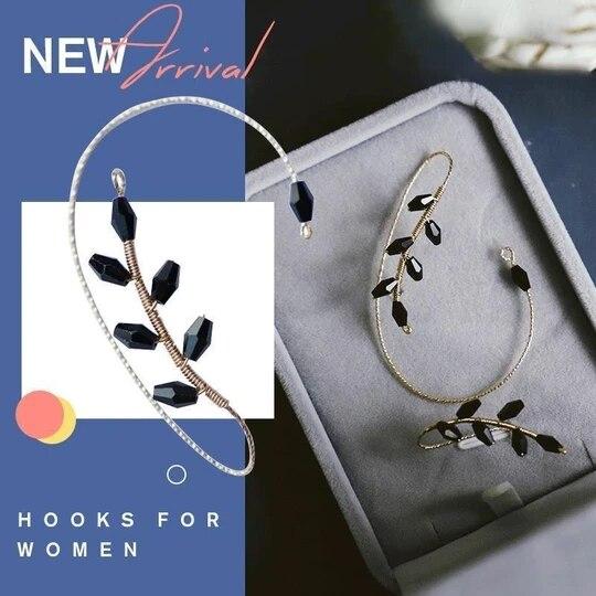 New Elegant Women Ear Cuff Non Pierced Clip Earring Boho Punk Antique Color Flower Bee Animal Carved Crystal Earrings 15