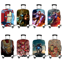 Elastic Luggage Protective Cover Case For Suitcase Protective Cover Trolley Cases Covers 3D Travel Accessories Iron Man Pattern
