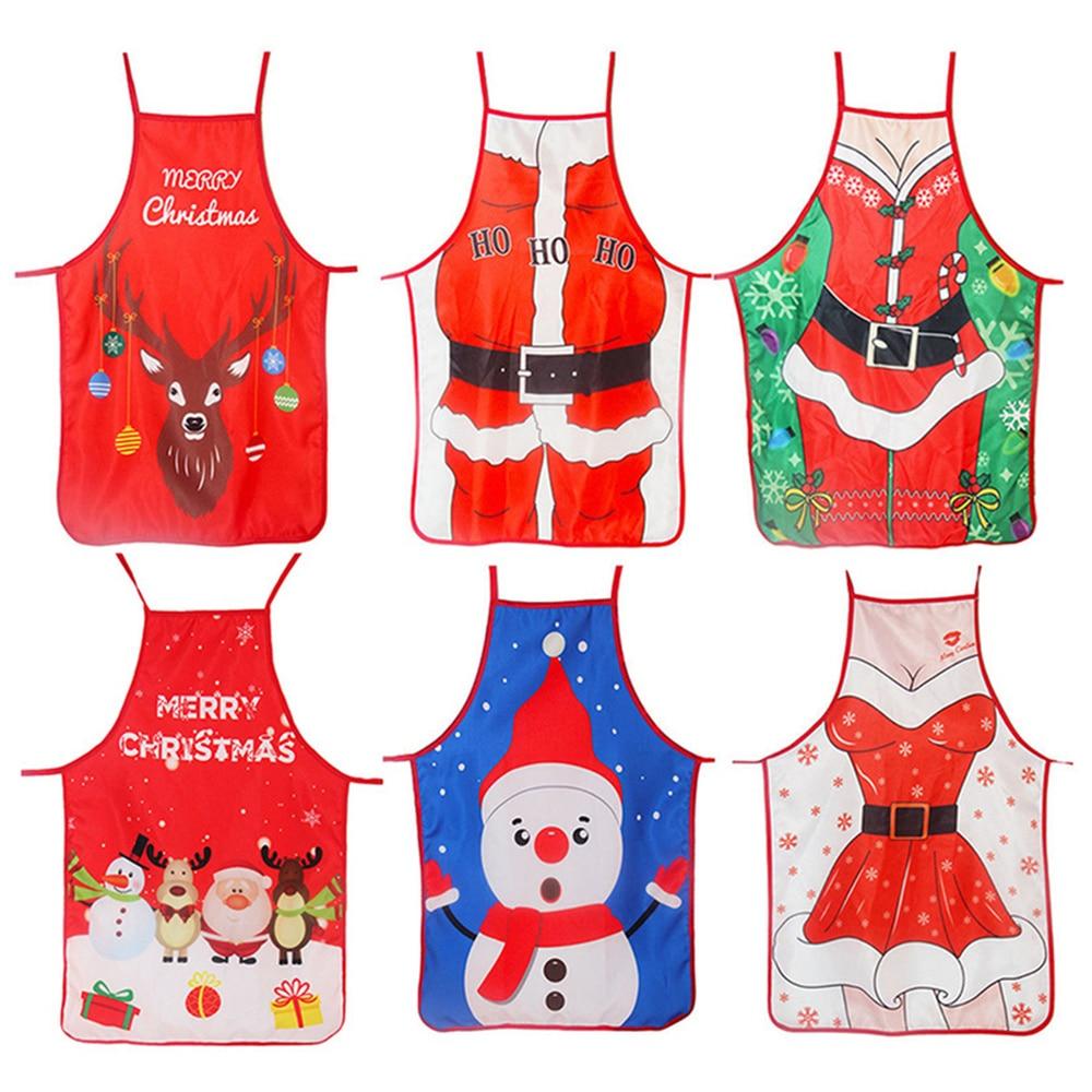 Decoraciones de Navidad para el hogar 1 piezas de Navidad de Santa Claus delantal de Navidad, decoración Noel Navidad Año Nuevo 2019 regalo de Navidad 50cm 70cm X 70cm