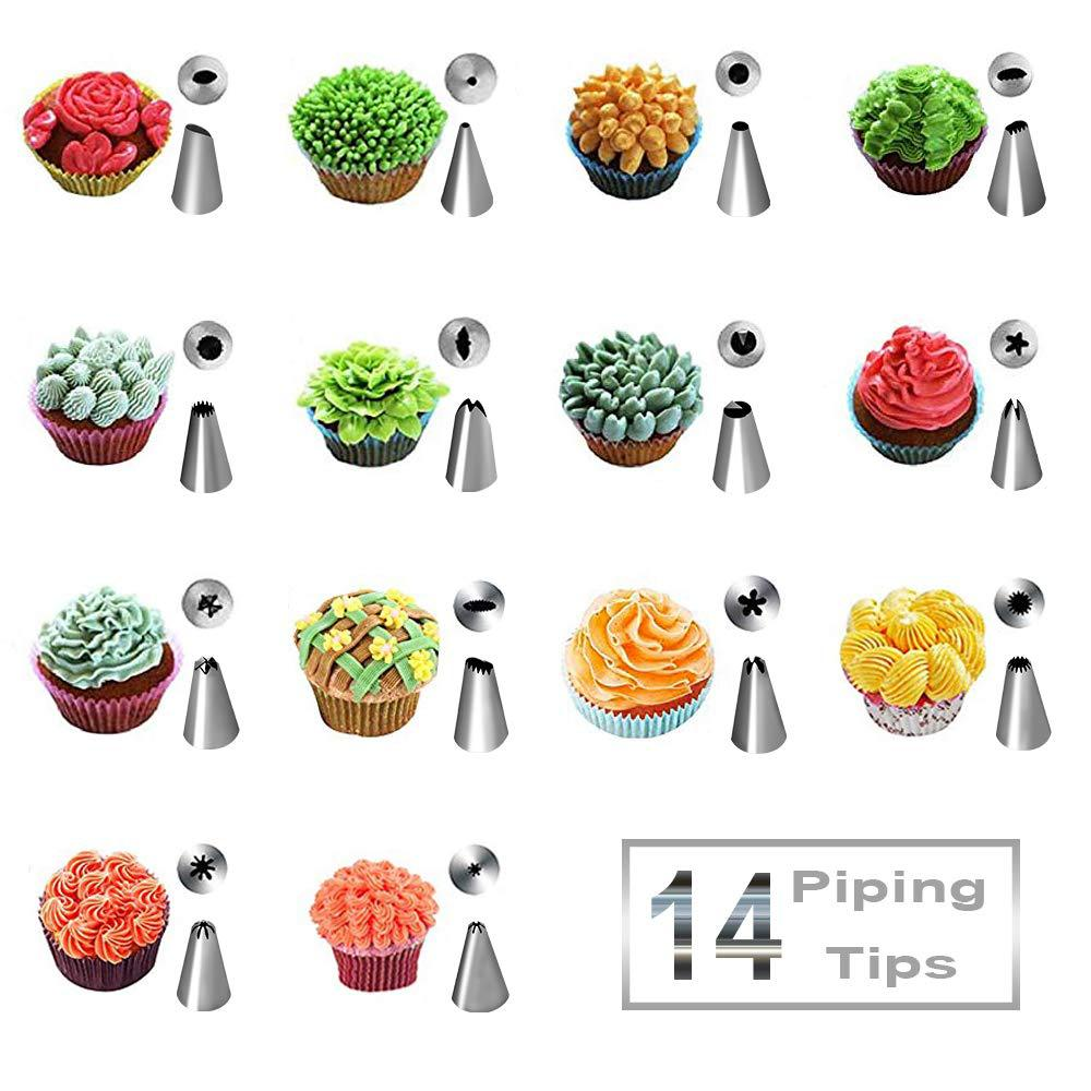 24 Pieces Decorating Nozzle Silica Gel Pastry Bag Cake Decorating Nozzle Korean Style Decorating Nozzle