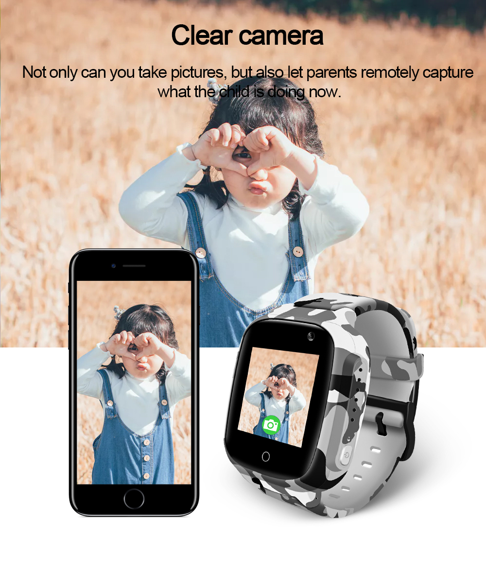 LEMFO LEC2 Smart Watch Kids GPS 600Mah Battery Baby Smartwatch IP67 Waterproof SOS For Children Support Take Video Gift