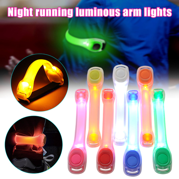 Нарукавная повязка со светодиодный светильник кой, регулируемый носимый ремень для бега, ходьбы, концерта, велоспорта, на открытом воздухе