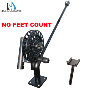 Image 5 - Maximumcatch Fishing Manual Downrigger with Feet Counter CNC Machine Aluminum with Adjustable Drag and Stop Pin Drag Lock