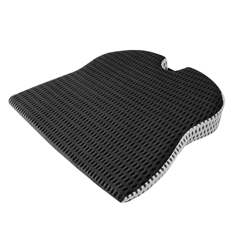 Car Wedge Seat Cushion for Car Driver Seat Office Chair Wheelchairs Memory Foam Seat Cushion-Orthopedic Support and Pain Relief image