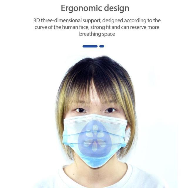 Soft Skin-friendly Mask Holder Bracket 3D Three-dimensional Support Mask Holder Food Grade Silicone Washable Reusable Mask Parts 2