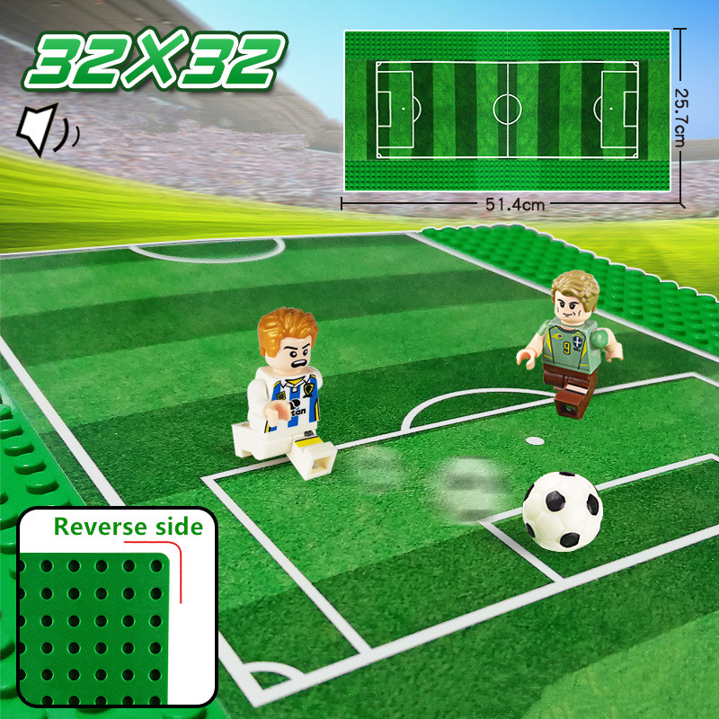 <font><b>32x32</b></font> Dots Football Basketball Field Road <font><b>Baseplate</b></font> Building Blocks Sets Compatible LegoINGLs City Base Plate Kids Bricks Toys image