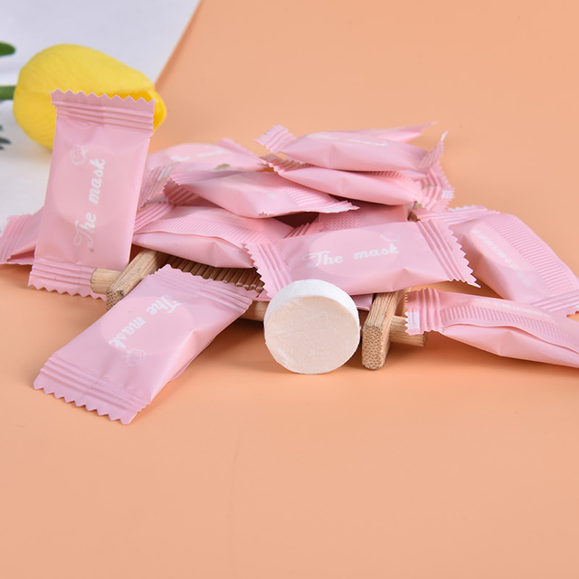 20PCS/5PCS Disposable Towel Tablet Capsules Cloth Wipes Paper Tissue Mask Outdoor Travel Magic Compressed
