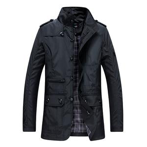 Image 5 - Classic Long Men Trench Coat For Summer Thin Male Casual Khaki Zipper 2019 Windbreaker Streetwear Outerwear Baggy Varsity Jacket