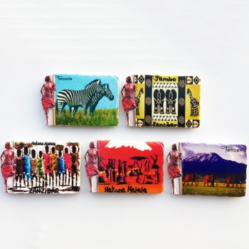 3d Resin Magnets Tanzania Africa Cultural Landscape Tourism Fridge Magnet Souvenir Home Decoration Accessories gift ideas 1