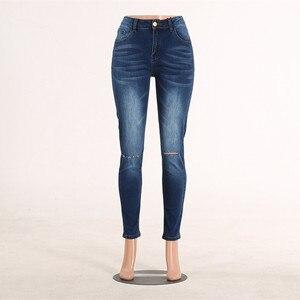 Image 5 - High Waist Skinny Ripped Jeans Push Up Denim Jeans Boyfriend Jeans For Women Plus Size Pencil Pants Vintage Stretch Mom Jeans