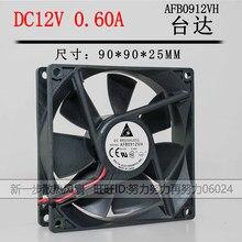 Riginal para delta afb0912vh = aub0912vh 9225 12v 0.60a ventilador de refrigeração axial de 2 fios