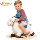 Ruizhi детей милые плюшевые животные Троянские деревянные Твердые безопасности качалка Лошадь детское кресло домашние детские игрушки подар...