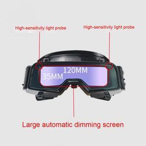 Image 2 - Gafas de soldadura de Color verdadero antideslumbrante, gafas de soldadura de oscurecimiento automático para Máscara de Soldadura de Plasma TIG MIG MMA LYG R100A a prueba de arañazos