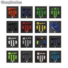 Chenghaorão chaves substituição multicoloridas, l r a b botões para gameboy advance frame para gba d pads ligar o botão desligar