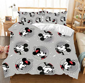 Three piece set Mickey Minnie Mouse Bedding Sets Boy Girl Adult Twin Full Queen King Bedroom Decoration Duvet Cover