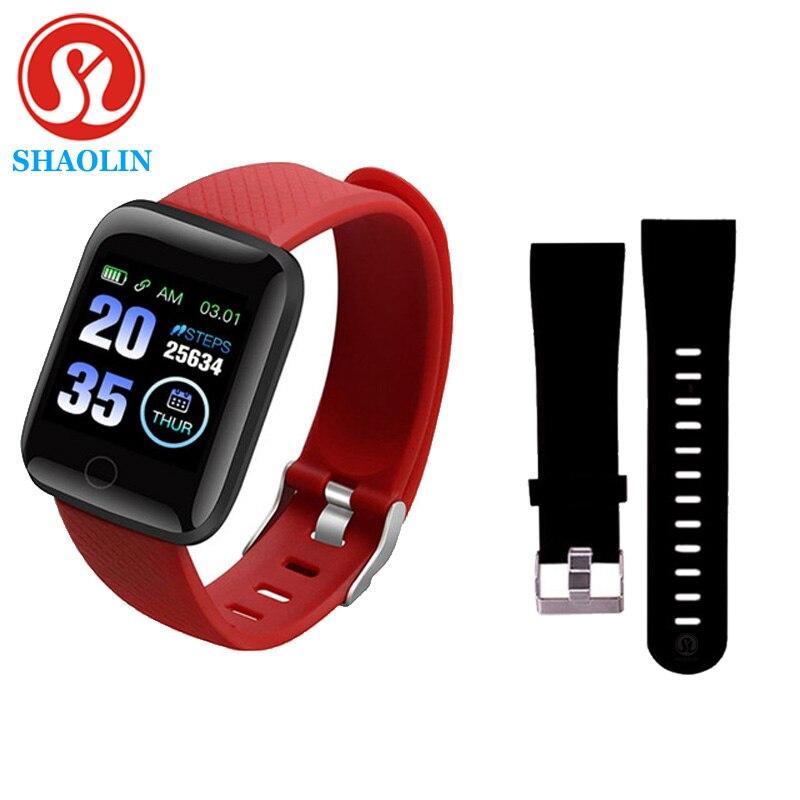 Pulseira relógio inteligente tela colorida freqüência cardíaca monitoramento de pressão arterial faixa movimento inteligente para android apple assista pk iwo
