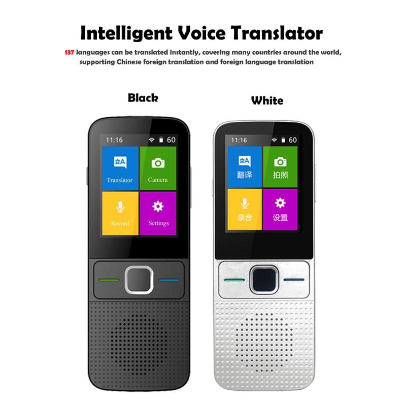 2.4 inch Real Time Translator Built-in 1500mAh Lithium Battery Multi-Language WiFi Instant Voice Translator for Travel Meeting image