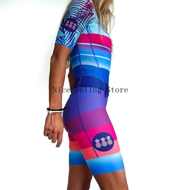 2020 mulher triathlon ciclismo skinsuit verão manga curta roupa de banho personalizado bicicleta onesies triathlon terno cor brilhante macacão 2