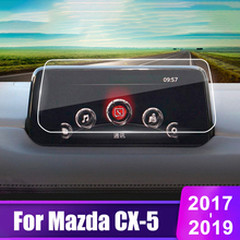 For Mazda CX-5 CX5 2017 2018 2019 2020 Tempered Glass Car GPS Navigation Screen Protector Display Film LCD Protective Sticker car tempered glass screen protective film sticker gps multimedia lcd guard for vw volkswagen 2017 2018 tiguan mk2 accessories