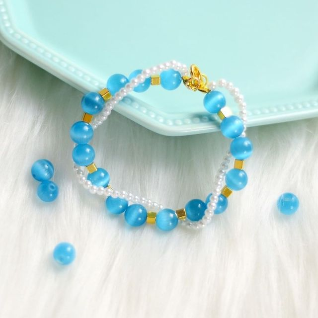 "Natural Moon Stone Beads White Cat Eye Round Loose Beads 4/6/8/10/12mm Jewelry Making DIY Bracelet 15"" Strand 6"