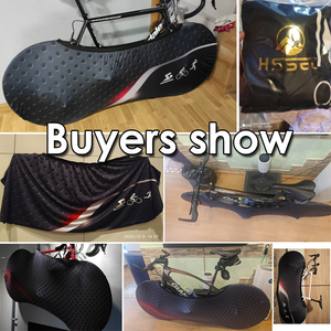 """Image 3 - HSSEE 2020 MTB road bike cover high quality elastic fabric 26 """" 28"""" bicycle indoor dust cover genuine tire protection cover"""