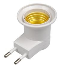 E27 светодиод Licht Mannelijke Sochet Base Type Om Ac 220V Eu Plug Lamphouder лампа адаптер преобразователь +% 2B Aan% 2FUit Schakelaar