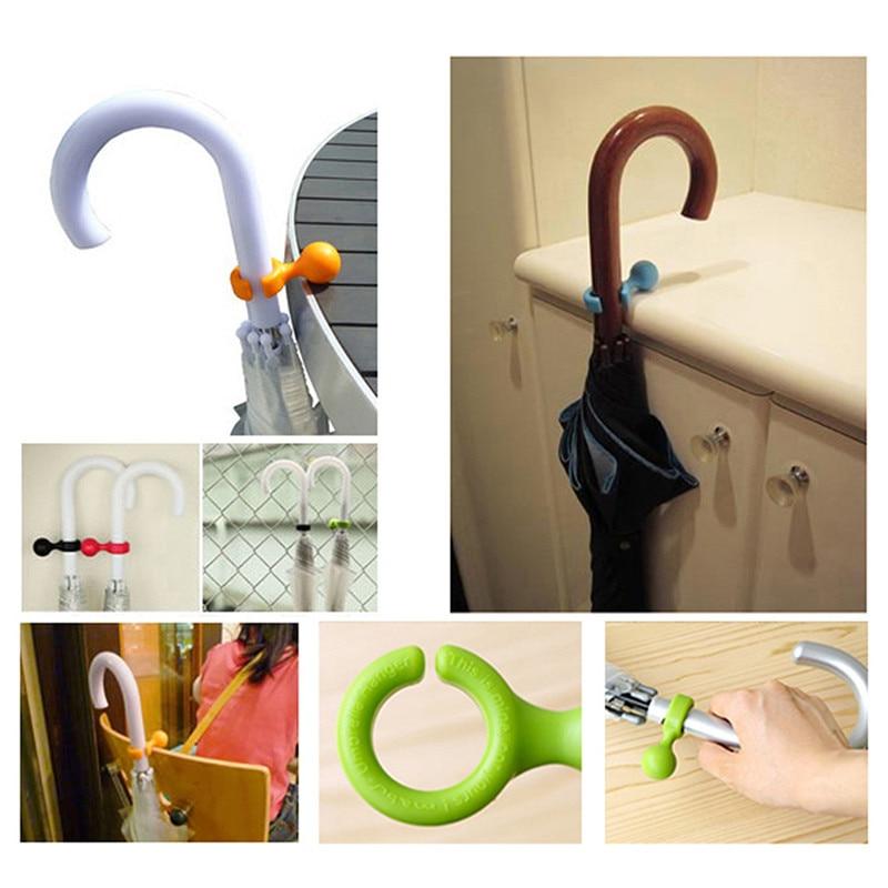 Ev ve Bahçe'ten Şemsiye Standları'de Yaratıcı Mini şemsiye askı kullanışlı plastik tutucu raf sevimli tasarım asılı kolayca PP şemsiye standları askı plastik tutucu title=